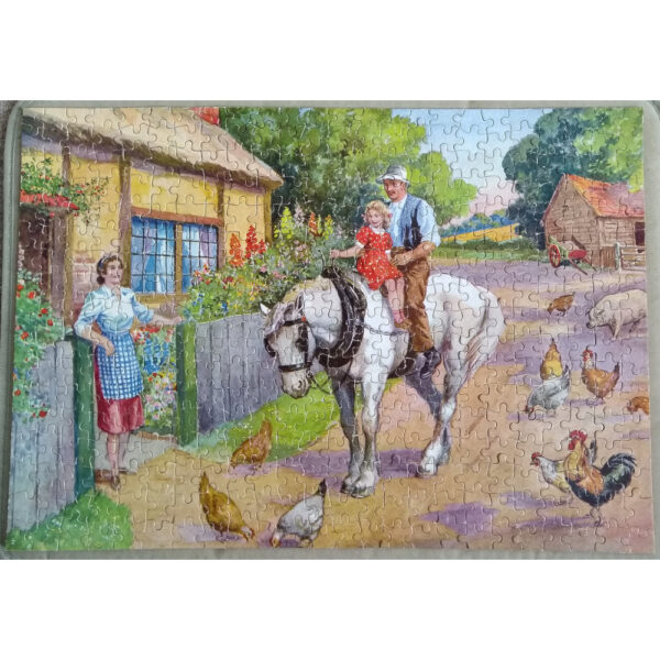 Tower Press The Good Companion The End of the Day No 26 Jigsaw Complete Man and Child Coming Home on Horseback
