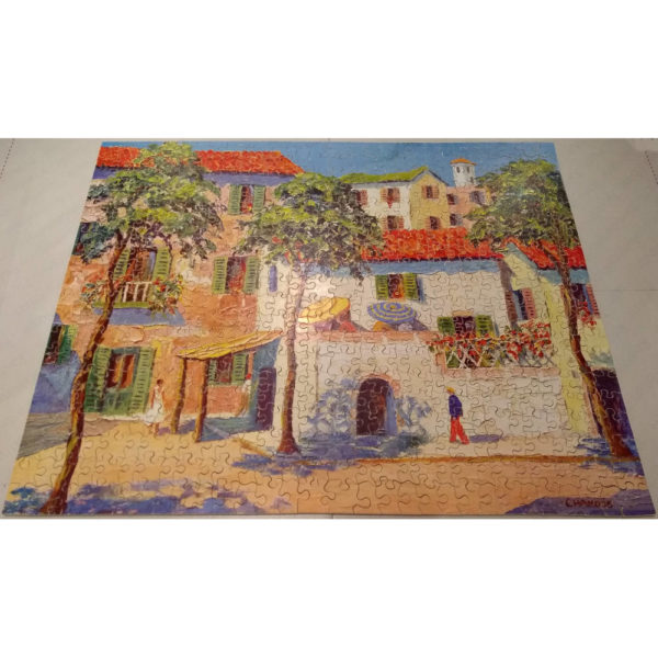 Victory Corsican Village France Popular Series P.8 Vintage Wooden Jigsaw Complete