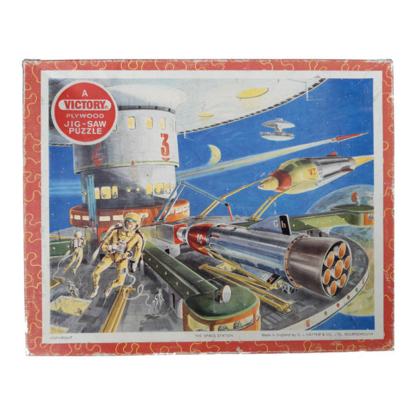 Victory The Space Station Vintage Wooden Jigsaw Topical Series TP3 Box