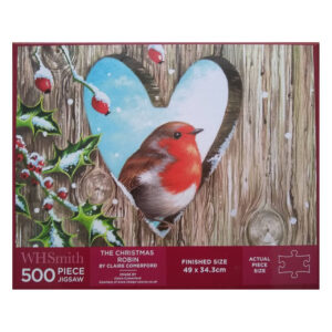 WHSmith The Christmas Robin by Claire Comerford 37249984 500 pieces jigsaw box