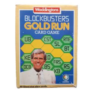 Emporium Waddingtons Blockbusters Gold Run 1985 Card Game Box featuring Bob Holness