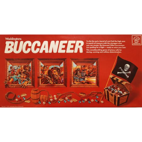 Waddingtons Buccaneer Game 1976 Box Swashbuckling Game of Piracy and Treasure