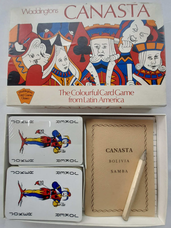 Waddingtons Canasta Card Game Contents Playing Cards Instructions