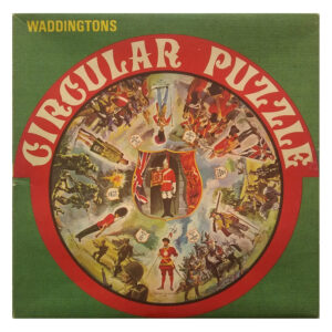 Waddingtons Circular Puzzles Battles Stock No 515 Vari Piece Jigsaw Box Featuring Soldiers, Guards and Famous Battles