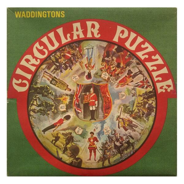 Waddingtons Circular Puzzles Battles Stock No 515 Vari Piece Jigsaw Box Featuring Soldiers, Guards and Famous Battles