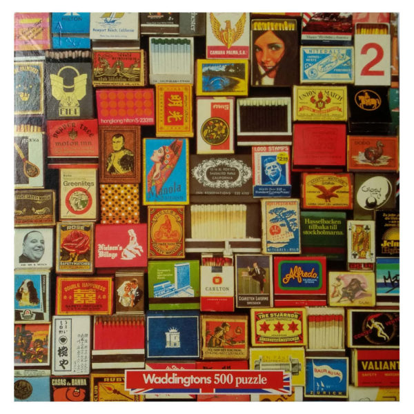 Waddingtons Collectables Match Boxes Rare Jigsaw Box