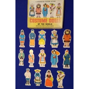 Waddingtons Costume Dolls of the World Teaching Jig Saw Stock No 581 Box Complete 14 separate jigsaws