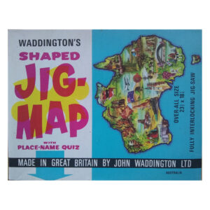 Waddingtons Jig Map Australia Stock No 565 Jigsaw Box