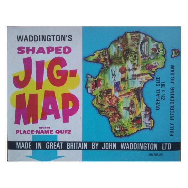 Waddingtons Jig Map Australia Stock No 565 Jigsaw Box