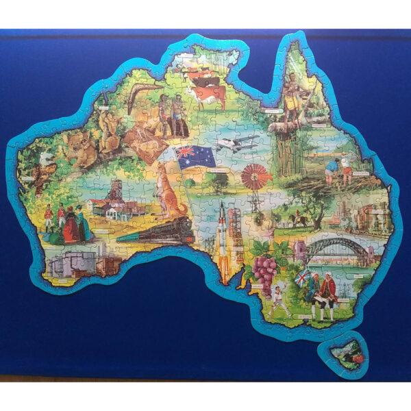 Waddingtons Jig Map Australia Stock No 565 Jigsaw Complete