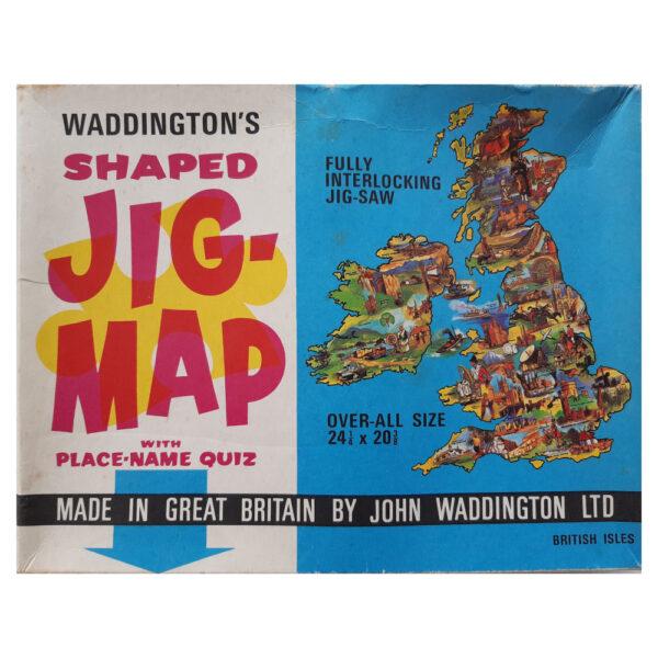 Emporium Waddingtons Jig-Map British Isles Stock No 560 Jigsaw Box