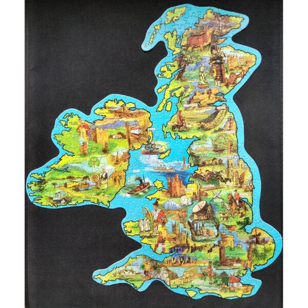 Emporium Waddingtons Jig-Map British Isles Stock No 560 Jigsaw Complete