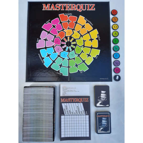 Waddingtons Masterquiz 1984 Collectable Game Contents