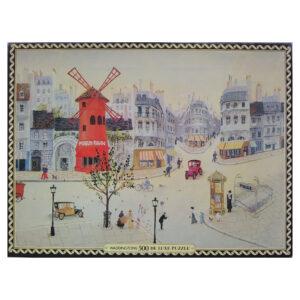 Waddingtons Paris Montmartre by Emile Duval 13504 500 pieces Jigsaw Box Painting including Moulin Rouge