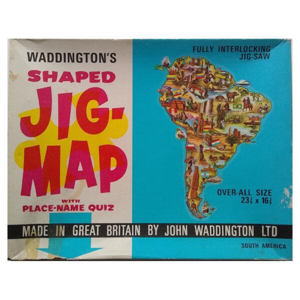 Waddingtons Shaped Jig Map South America Stock No 558 Jigsaw Box