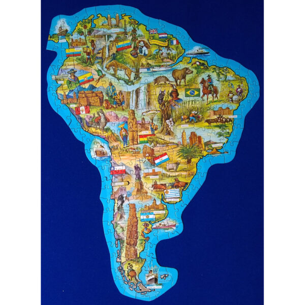 Waddingtons Shaped Jig Map South America Stock No 558 Jigsaw Complete