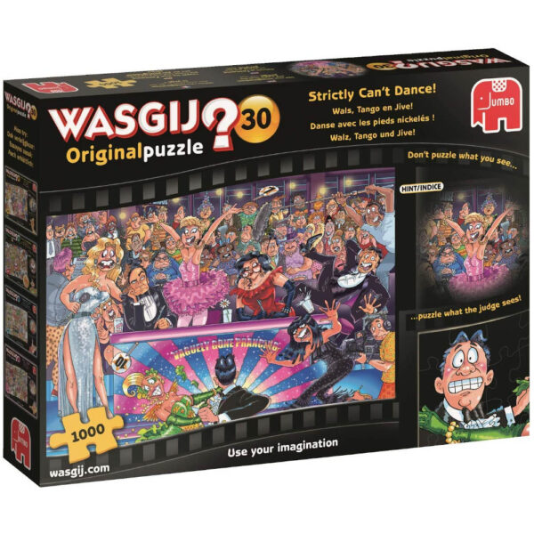 Wasgij Original 30 Strictly Cant Dance Jumbo 19160 Jigsaw Box Strictly Come Dancing cartoon