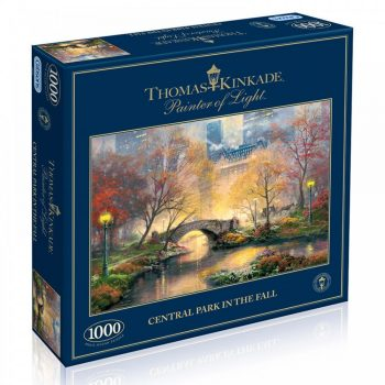 Gibsons Central Park in the Fall New York painting by Thomas Kinkade G6096 1000 pieces jigsaw box