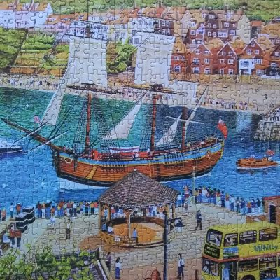 Detail of Gibsons Endeavour Whitby Jigsaw Puzzle