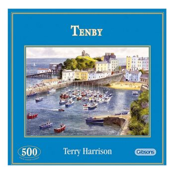 Gibsons Tenby G3038 Jigsaw Old Box Harbour Scene by Terry Harrison