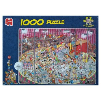 Jumbo The Circus Comic Cartoon by Jan Van Haasteren 01470 1000 pieces jigsaw puzzle box