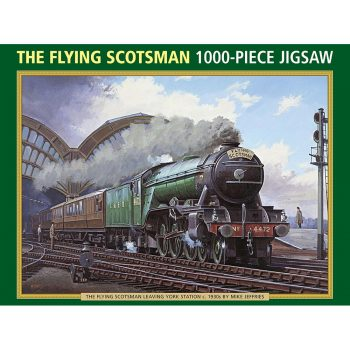 Peony Press The Flying Scotsman Jigsaw Box Leaving York Station c 1930s by Mike Jeffries